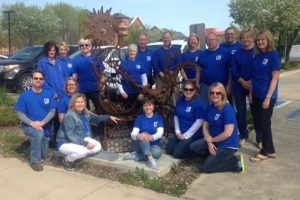 "River City Sculptures on Parade – GMCBOR Sponsors ""Roost Here"""