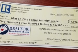 GMCBOR & REALTOR® FOUNDATION OF IOWA SUPPORT NORTH IOWA SENIOR CITIZEN ORGANIZATION